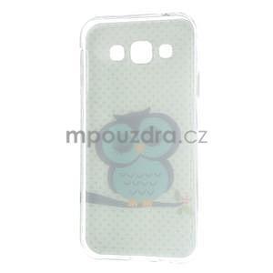 Gélový obal pre mobil Samsung Galaxy E5 - sova - 5