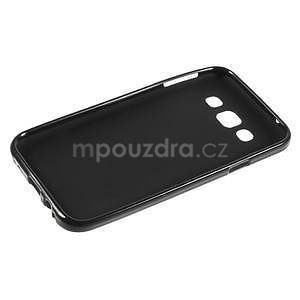 Matný gélový obal pre Samsung Galaxy E5 - čierny - 5