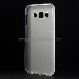 Matný gélový obal na Samsung Galaxy E5 - biely - 5