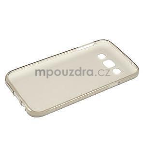 Matný gélový obal na Samsung Galaxy E5 - šedý - 5