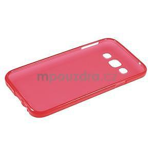 Matný gélový obal na Samsung Galaxy E5 - červený - 5