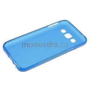 Matný gélový obal pre Samsung Galaxy E5 - modrý - 5