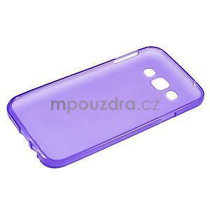 Matný gélový obal na Samsung Galaxy E5 - fialový - 5