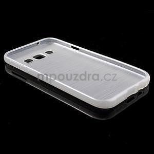 Broušené gélový kryt pre Samsung Galaxy E5 - biely - 5