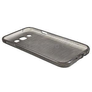 Broušené gélový kryt na Samsung Galaxy E5 - šedý - 5