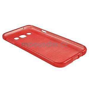 Broušené gélový kryt na Samsung Galaxy E5 - červený - 5