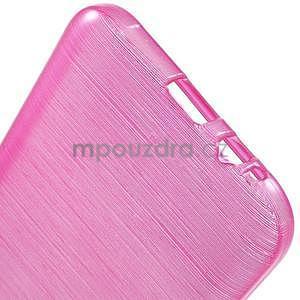 Broušené gélový kryt pre Samsung Galaxy E5 - rose - 5