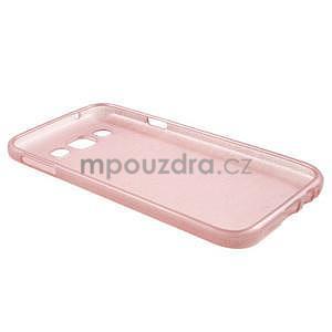 Broušené gélový kryt pre Samsung Galaxy E5 - ružový - 5