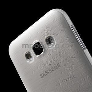 Broušený gélový obal pre Samsung Galaxy E7 - biely - 5