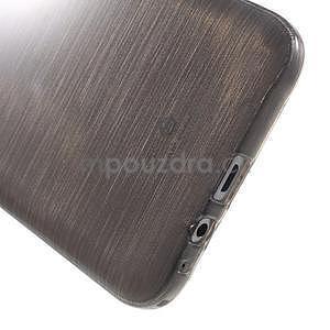 Broušený gélový obal pre Samsung Galaxy E7 - šedý - 5