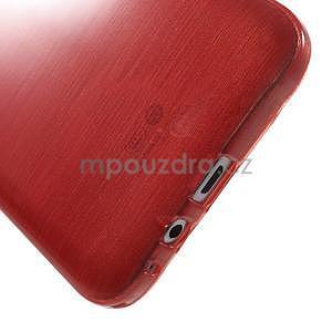 Brúsený gélový obal pre Samsung Galaxy E7 - červený - 5