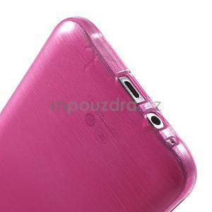 Broušený gélový obal pre Samsung Galaxy E7 - rose - 5