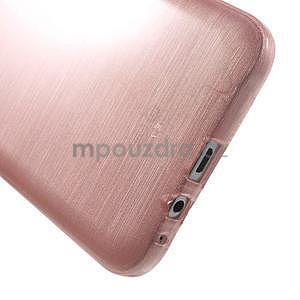 Brúsený gélový obal pre Samsung Galaxy E7 - ružový - 5