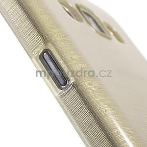 Broušený gélový obal pre Samsung Galaxy E7 - champagne - 5