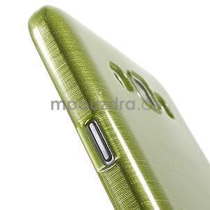 Broušený gélový obal pre Samsung Galaxy E7 - zelený - 5