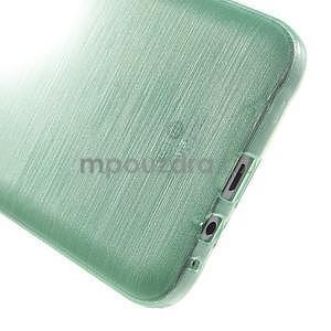Brúsený gélový obal pre Samsung Galaxy E7 - cyan - 5