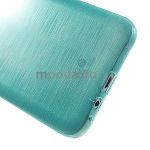 Broušený gélový obal pre Samsung Galaxy E7 - tyrkysový - 5