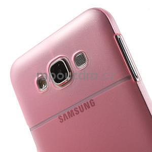 Plastový kryt na mobil Samsung Galaxy E7 - růžový - 5