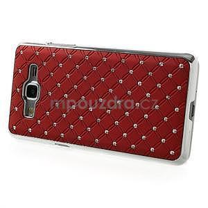 Červený drahokamový kryt pre Samsung Grand Prime - 5