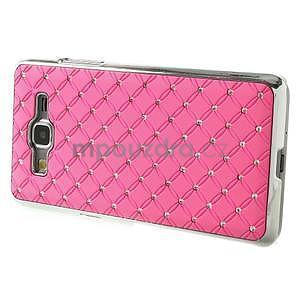 Ružový drahokamový kryt pre Samsung Grand Prime - 5