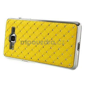 Žltý drahokamový kryt pre Samsung Grand Prime - 5