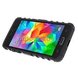 Vysoce odolný kryt se stojánkem na Samsung Galaxy Grand Prime - čierny - 5