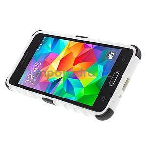 Vysoce odolný kryt se stojánkem na Samsung Galaxy Grand Prime - biely - 5