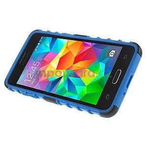 Vysoce odolný kryt so stojanom pre Samsung Galaxy Grand Prime - modrý - 5
