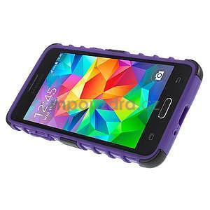 Vysoce odolný kryt so stojanom pre Samsung Galaxy Grand Prime - fialový - 5