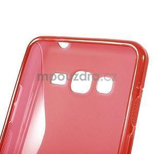 S-line gélový obal pre Samsung Galaxy Grand Prime - červený - 5