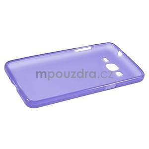 Fialový matný gélový obal pre Samsung Galaxy Grand Prime - 5
