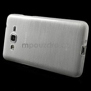 Broušený gélový obal pre Samsung Galaxy Grand Prime -  biely - 5
