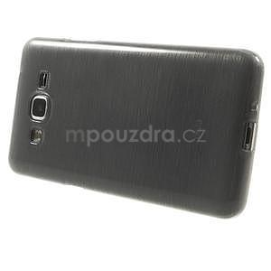 Broušený gélový obal pre Samsung Galaxy Grand Prime - šedý - 5