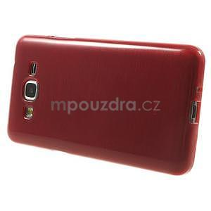 Broušený gélový obal pre Samsung Galaxy Grand Prime - červený - 5
