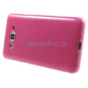 Broušený gélový obal pre Samsung Galaxy Grand Prime - rose - 5