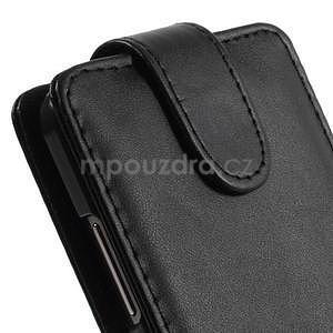 Čierné flipové puzdro pre Samsung Galaxy Grand Prime - 5