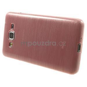 Broušený gélový obal pre Samsung Galaxy Grand Prime - růžový - 5
