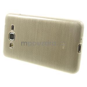 Broušený gélový obal pre Samsung Galaxy Grand Prime - zlatý - 5