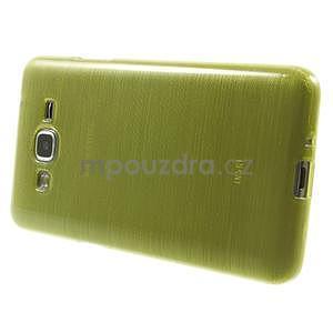 Brúsený gélový obal pre Samsung Galaxy Grand Prime - zelený - 5
