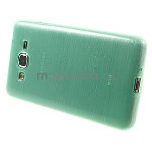 Brúsený gélový obal pre Samsung Galaxy Grand Prime - cyan - 5