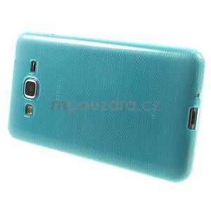 Brúsený gélový obal pre Samsung Galaxy Grand Prime - tyrkysový - 5