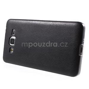 Ultratenký kožený kryt na Samsung Grand Prime - čierny - 5