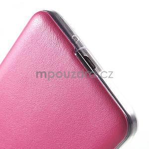 Ultratenký kožený kryt na Samsung Grand Prime - rose - 5