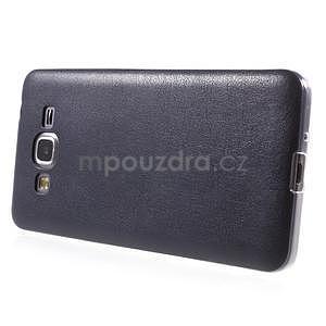 Ultratenký kožený kryt na Samsung Grand Prime - tmavě modrý - 5