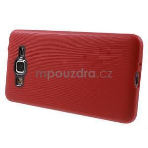 Tenký pogumovaný obal na Samsung Galaxy Grand Prime - červený - 5