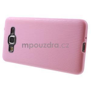 Tenký pogumovaný obal pre Samsung Galaxy Grand Prime - ružový - 5