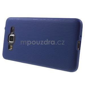Tenký pogumovaný obal pre Samsung Galaxy Grand Prime - tmavo modrý - 5