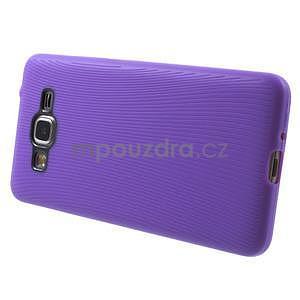 Tenký pogumovaný obal pre Samsung Galaxy Grand Prime - fialový - 5