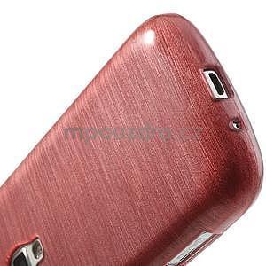 Brúsený gélový kryt pre Samsung Galaxy S Duos - ružový - 5
