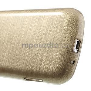 Broušený gélový kryt na Samsung Galaxy S Duos - zlatý - 5
